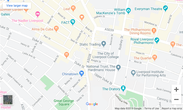 Map of The Liverpool Psychotherapy Practice
